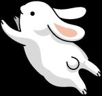兔子奔跑卡通可爱黑色