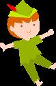 精灵小人儿童小孩绿色