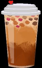 芋圆奶茶奶茶手绘饮料饮品