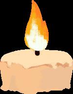 蜡烛烛光万圣节火光卡通