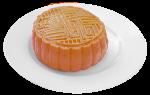月饼中式糕点中秋黄色白色