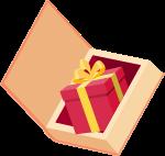 书礼盒礼物红色礼品
