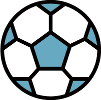 足球球球类卡通装饰