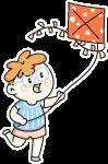 儿童小朋友可爱放风筝小孩