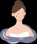 女生人物女性泡澡泡温泉