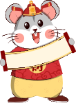 鼠年财神财神爷卡通可爱