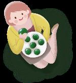 青团食物清明节女人妈妈