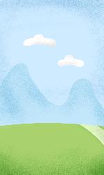风景淡蓝背景位图照片