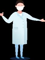 醫生白大褂口罩醫療護士