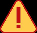 惊叹号警示标标识牌装饰装饰元素
