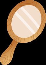 镜子化妆镜照镜子卡通装饰元素