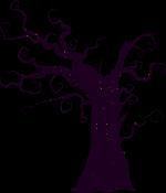 枯树树黑色万圣节halloween