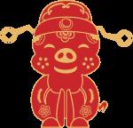 财神猪猪猪年可爱新年
