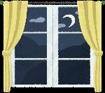 窗口窗子窗窗帘夜晚