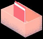 文件盒盒子卡通文件噪点