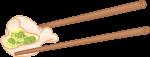 饺子筷子筷子夹饺子食物装饰