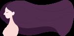 女孩女人人物女性紫色