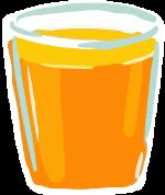 饮料橙汁杯子手绘装饰