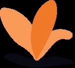异形色块图形几何图形植物