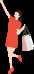 女生人物女性逛街shopping