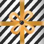 礼盒(黑条纹)礼物礼盒礼品盒子
