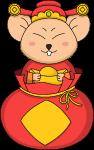 鼠年财神财神爷福袋鼠