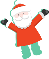 人物圣诞老人人人像举手