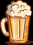 啤酒杯子餐饮手绘卡通