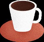 杯子咖啡咖啡杯装饰装饰元素