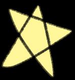 星星五角星装饰装饰元素手绘