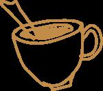 咖啡杯咖啡饮料饮品手绘