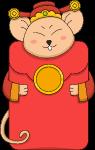 红包财神鼠年红色卡通
