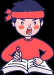 卡通男孩蓝色白色红色粉色