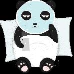 熊猫敷面膜白色
