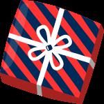 礼品包装(条纹)礼物礼盒礼品盒子