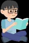 读书的孩子儿童小孩阅读学习