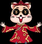 红包财神鼠年鼠老鼠