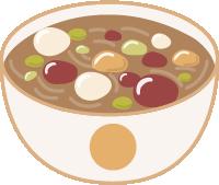 粥腊八红豆红枣食物