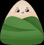 粽子拟人抿嘴可爱卡通