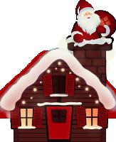 圣诞老人房子建筑屋子圣诞