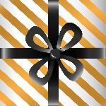 礼盒(黑丝带)礼物礼盒礼品盒子