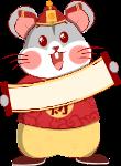 鼠年财神财神爷可爱鼠