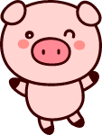 卡通小猪猪猪年棕色粉色