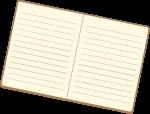 笔记本翻开的笔记本本子书本册子