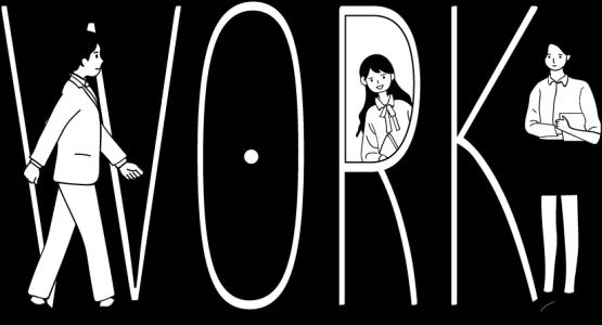工作人物劳动节创意插画