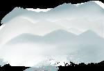 山蓝色背景位图照片
