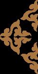 花纹装饰装饰元素棕色花边