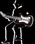 弹吉他的人弹吉他吉他黑色白色