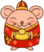 老鼠财神财神爷鼠年鼠