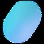 圆蓝色渐变电商元素